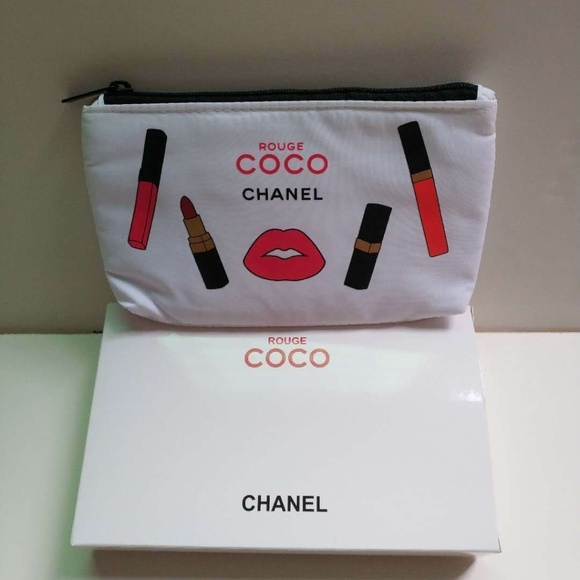 3303448d0775 CHANEL Handbags - WHITE COCO CHANEL COSMETIC BAG NEW